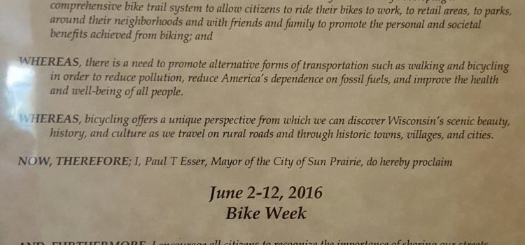 2016 Bike Week Proclamation